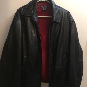 NÁUTICA black leather Jacket